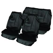 Noir Voiture Imperméable siège avant et arrière couvre pour SEAT LEON 01-05