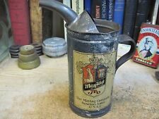 MAYTAG MAY TAG  OIL CAN FUEL MIXING TIN MACHINE HOUSHOLD 1900's original