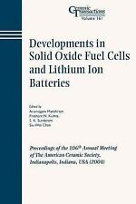 Ceramic Transactions: Developments in Solid Oxide Fuel Cells and Lithium Ion...