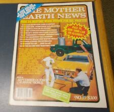 MOTHER EARTH NEWS MAGAZINE SEP/OCT 1979 RUN CAR ON ALCOHOL RESTORE WOOD STOVES