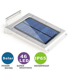 New 46 LED Solar Power Security Motion Sensor Light Outdoor Wall Garden Lamp