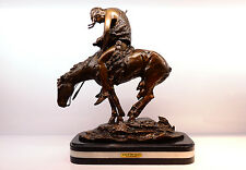 """NEW """"End of The Trail"""" Solid Bronze Statue Sculpture by James E. Fraser 23""""H"""