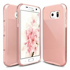 For Samsung Galaxy S6 Hard Rubber Hybrid Hard TPU Impact Protective Case Cover
