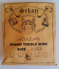Schaff Roslau Piano Music Treble Wire Size 15-1/2 .036 1/3 Lb Coil 96' w Brake