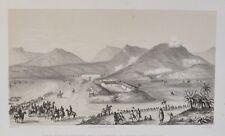 Lithographie XIXème - Attaque de la Batterie St André, prés d'Oran 18 Mai 1865