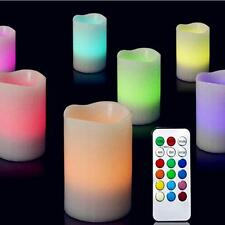 3pcs New Creative Colors Remote Control Candles Flameless LED Light Ivory Set PE