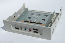 "Beige Front USB / 1394 / Audio Ports with 3.5"" to 5.25"" bay converter. Profront"