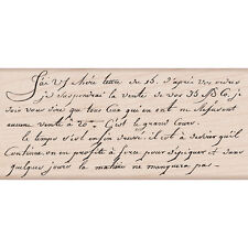 """""""Hero Arts Mounted Rubber Stamp 2.25""""""""X5""""""""-Old French Writing"""""""