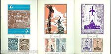 VATICAN CITY  SCOTT#C47/52  1967 AIRMAILS KIM MAXIMUM CARDS  FD CANCEL SET