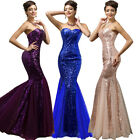 New Sequins Long Mermaid Evening Formal Party Wedding Bridesmaid Prom Gown Dress