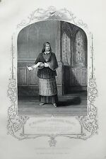 Antique Shakespeare Print - Victorian Steel Engraving - Wolsey, King Henry VIII