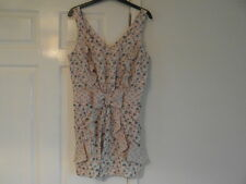 Topshop nwt a size 10 and cream mix in colour all in one shorts