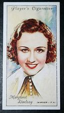 Hollywood  Film Star  Margaret Linsay  Vintage Portrait Card   VGC