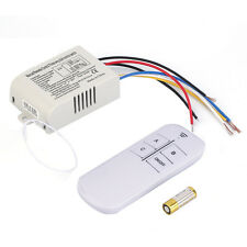 220V 3 Way ON/OFF Digital RF Remote Control Switch Wireless For Light Lamp E0