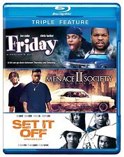 FRIDAY / MENACE TO SOCIETY / SET IT OFF  BLU RAY SET  CHRIS TUCKER ICE CUBE