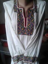 Ukrainian embroidery,vintage embroidered blouse, S-M, handicraft