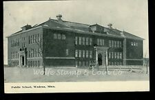 1915 Printed Photo Postcard Public School Wadena MN  B1589
