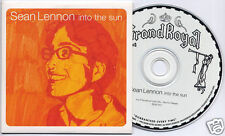 SEAN LENNON Into The Sun 1998 UK 13-trk promo CD card sleeve Grand Royal