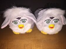 Rare Vintage Grey Furby Kids Slippers Size S 11-12