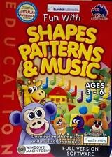 Shapes Patterns & Music Computer Game Develops Maths Awareness Age 3-6 Count FUN