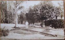 Cienfuegos, Cuba 1915 AZO Realphoto Postcard: Jardines del Centro Collego