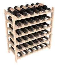 36 Bottle Stacking Wood Wine Rack Shelf in Ponderosa Pine. Easy DIY Wine Storage