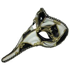 LOKI #CARNIVAL EYE MASK BLACK & WHITE VENETIAN FANCY DRESS MASQUERADE ACCESSORY