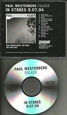 The Replacements PAUL WESTERBERG Folker TST PRESS ADVNCE PROMO DJ CD 2004 USA