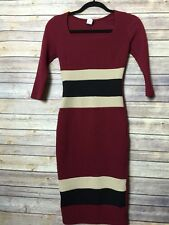 Windsor Bodycon 3/4 Sleeve Evening Sexy Party Dress Red Cocktail SZ S/M