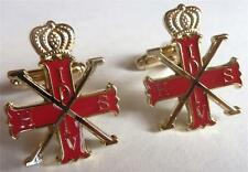 Red Cross of Constantine Christian Military Order Masonic Cufflinks Cuff Links