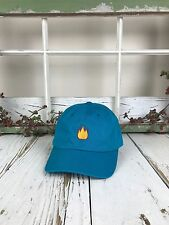 Lit Fire Emoji Embroidered Baseball Cap Dad Hat - Many Styles