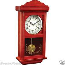 Kassel Classic 15 Day Crafted Wood Wall Clock Chimes With Pendulum Glass Front