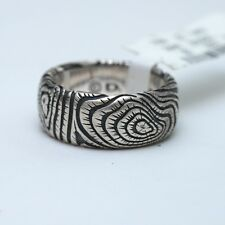 "New DAVID YURMAN Men's 10mm ""Iron Wood"" 925 Silver Band Ring Size 10 425"