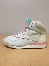 Vintage Hi Top Sneakers Club Reebok Women's 6 White Pink Blue