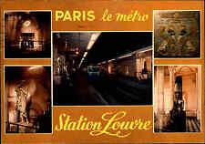 PARIS Frankreich Carte Postale 1973 Métro Station Louvre U-Bahn Bahnhof color AK