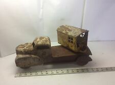 VNTAGE 1940s marx magnetic crane truck pressed steel flatbed swivel