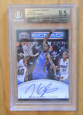 Kevin Durant 2012-13 Panini Threads Signage On Card Auto Graded BGS 9.5 Gem Mint