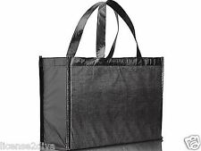 SOLID BLACK METALLIC PVC REUSABLE BAG! NEW! FREE SHIP! RECYCLE TOTES! NEW!