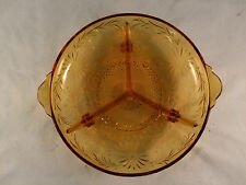"Green Depression Glass Relish/Pickle Dish 7-1/4"" Diameter"