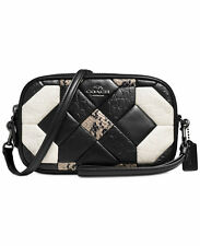 NWT Coach Canyon Quilt Crossbody Clutch in Exotic Embossed Leather