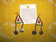 Hand Made African Maasai Earrings Masai Massai Fair Trade tribal boho jemd126