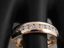 14k Men's Round Brilliant Diamond Ring Magic Glo .98 tcw F/VS Band Comfort Fit