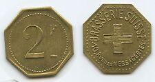 G9347 - Frankreich France Jeton Paris 2 Francs Brasserie Suisse Schweiz