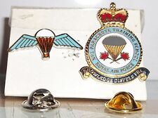 RAF Regiment no1 Parachute Training School pin badge with free wings pin.