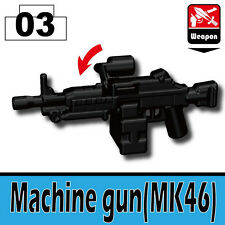 MK46 (W151) SOCOM SAW Machine Gun compatible with toy brick minifigures Army