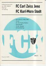 OL 88/89  FC Karl-Marx-Stadt - FC Carl Zeiss Jena