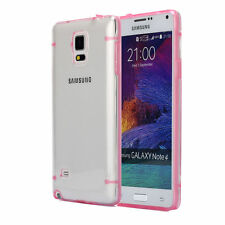 For Samsung  Note 4  Slim Transparent Crystal Clear TPU Hard Back Case Cover-HP