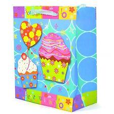 3PK piccola Carta regalo sacchetti decorativi AUGURI COMPLEANNO NOZZE