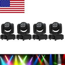 4pcs 50W DMX512 15/21CH Beam Wash Moving Head Stage Light Double Sides US H0O9