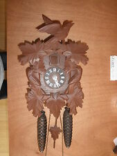 German made working Cuckoo Co. Linden Wood  8 Day Cuckoo Clock  CK1357